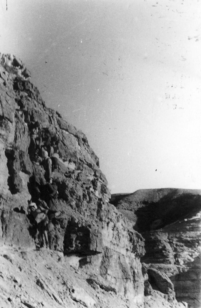 תמונה 29- 408 - קבוצת עופר - טיול למצדה 1954 - עליה למצדה מהסוללה