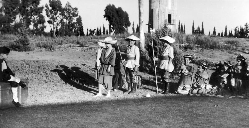 תמונה 7- 223 - הצגת הנסיך הגנוב קבוצת עופר 1950 - חזקי רימון אהוד גילאי